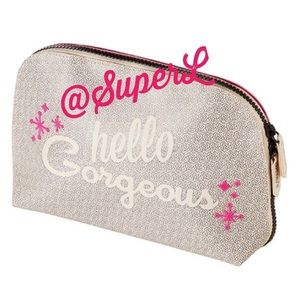 3/$15 Benefit Cosmetics Makeup Bag Hello Gorgeous